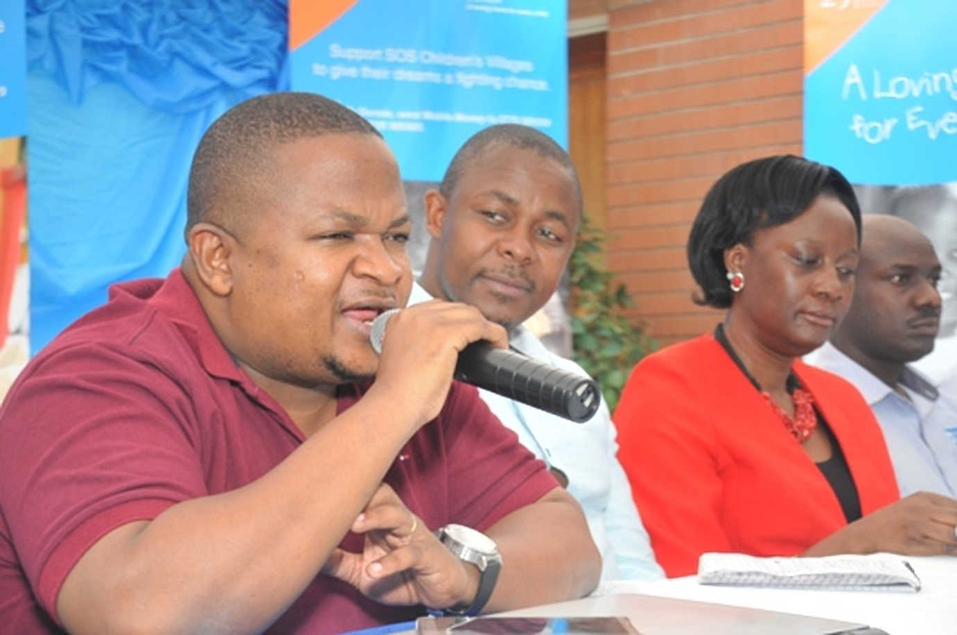PR/Media consultant, Kyamutetera stresses a point at a press conference recently (COURTESY PHOTO)