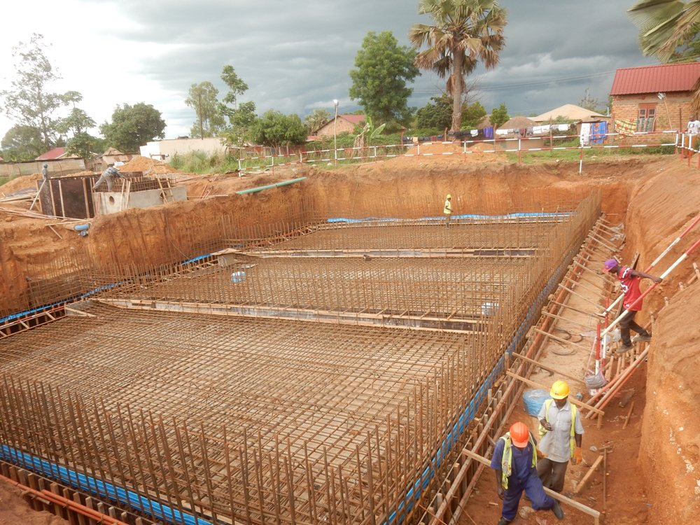 Ongoing works at the new Gulu water supply project