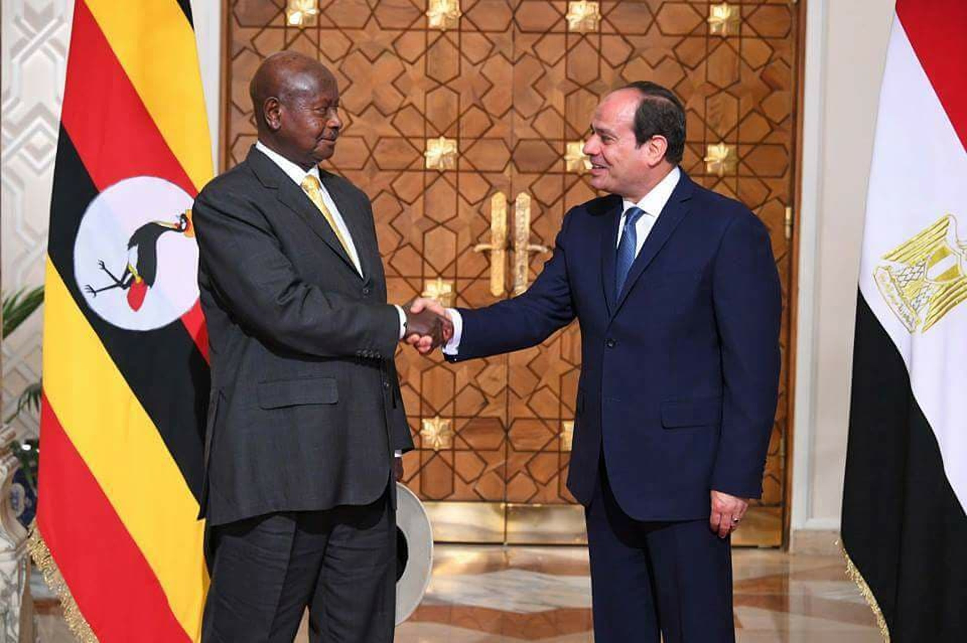 President Museveni and his Egyptian counterpart Abdel Fattah El-Sisi discussed a several bilateral issues between the two nations (COURTESY PHOTO)
