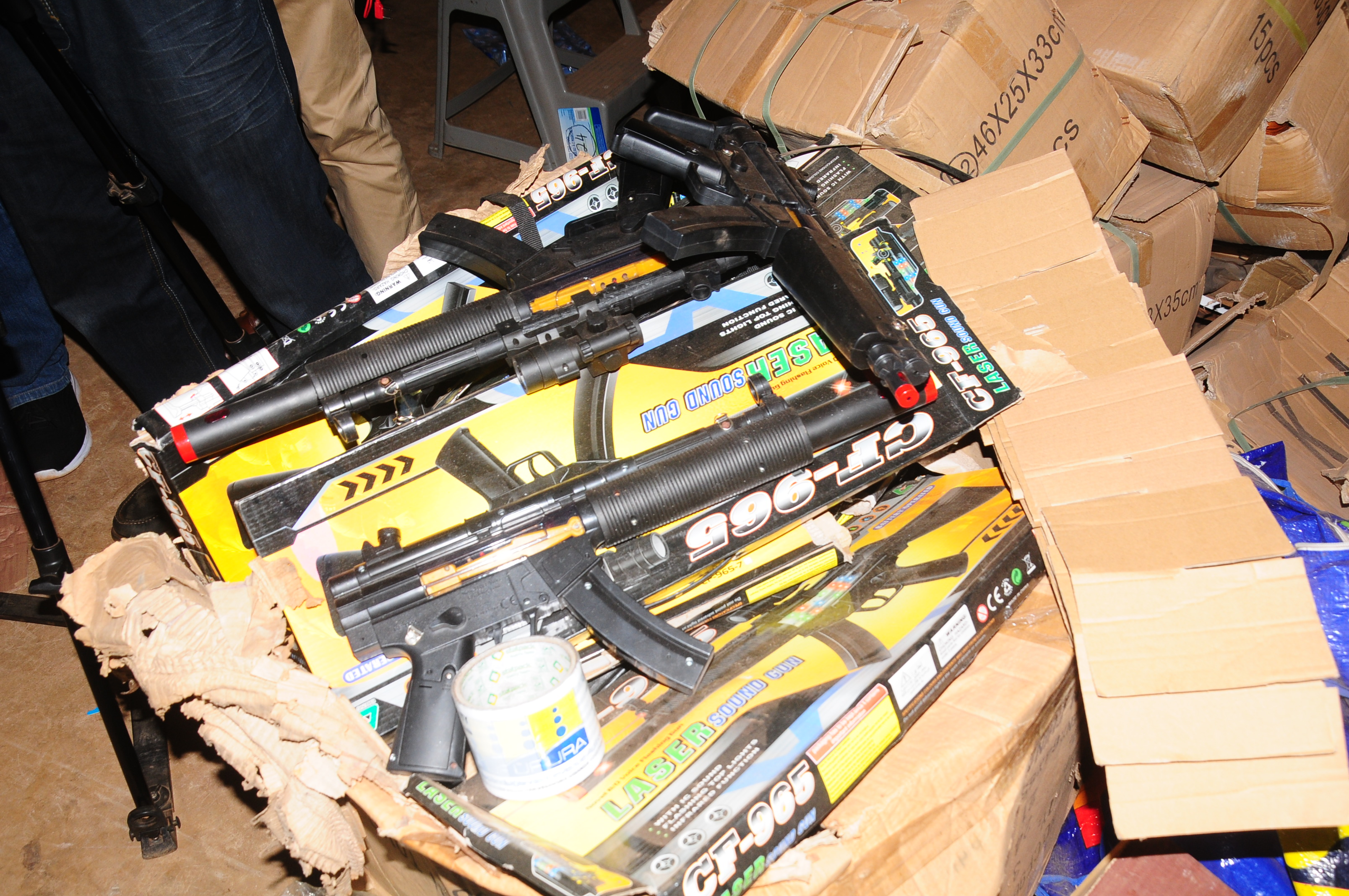 The toy-guns impounded are believed to be used to perpetrate crime in the country(Photo by OGeorge)
