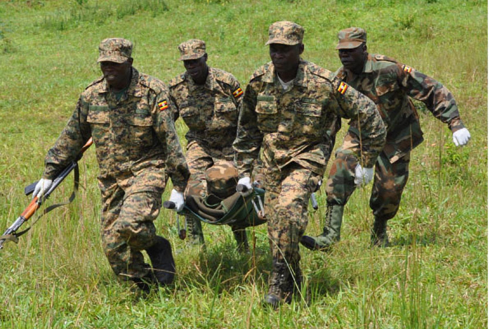 UPDF Medics undergo training.