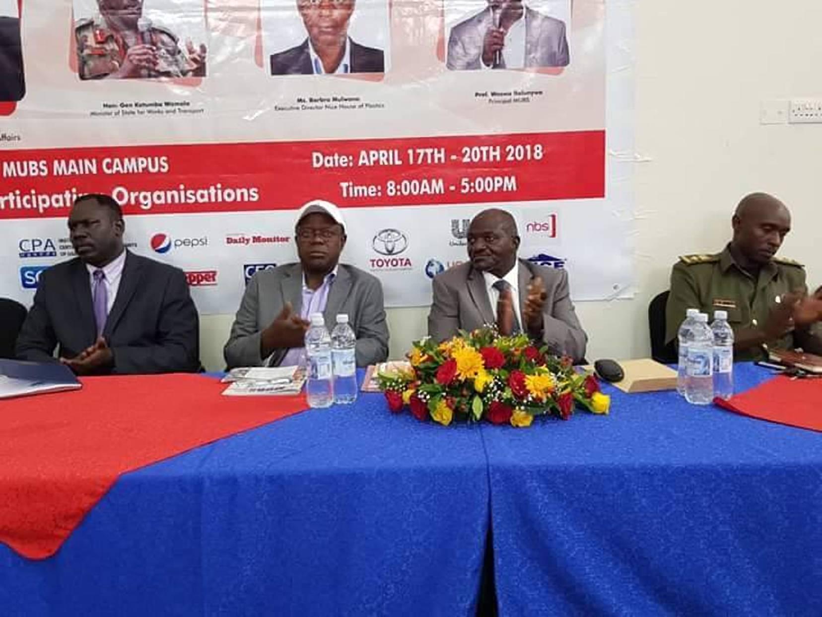 Gen Katumba Wamala at the MUBS Careers Expo (PML PHOTO)