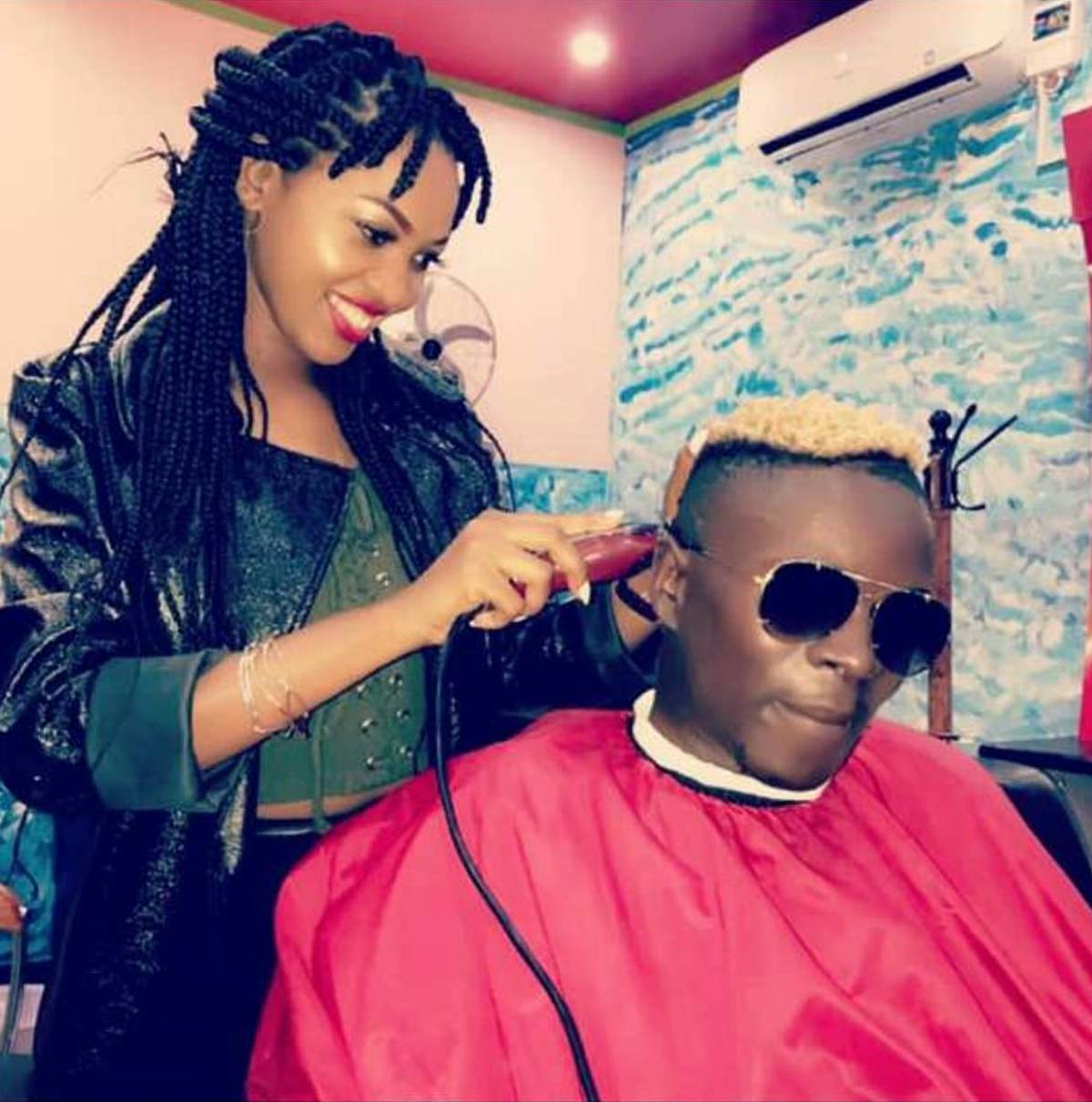 This photo of Spice Diana trimming Saha's hair has caused a storm.