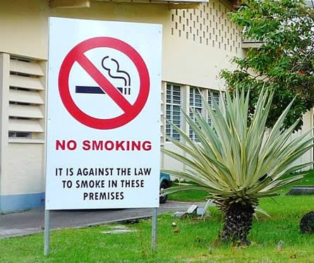Signs such as these at workplaces will help victims speak out against smokers.