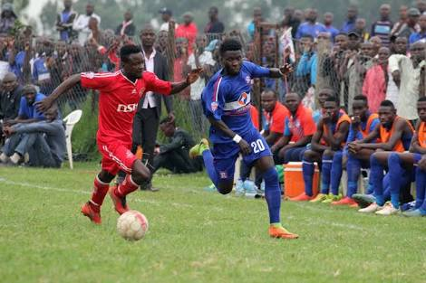Allan Kyambadde (right) was one of a few players who got decent chances in the game