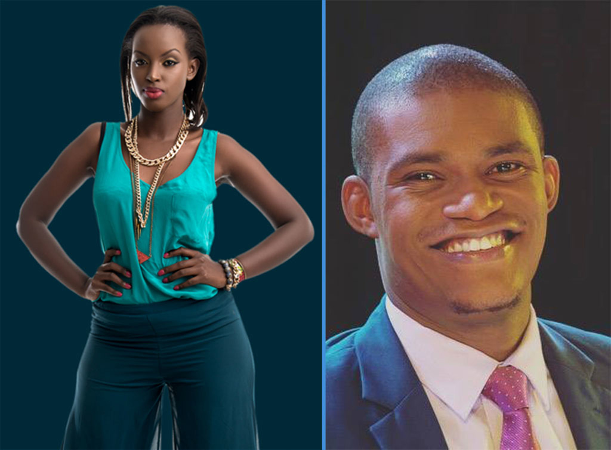 A collage of lovebirds Flavia Tumusiime and Andrew Kabuura (FILE PHOTO)