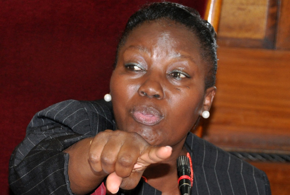 Speaker of Parliament Rebecca Kadaga slammed legislators criticising her move to extend the tenure of COSASE citing the Parliament business shall not be run on the streets (FILE PHOTO)