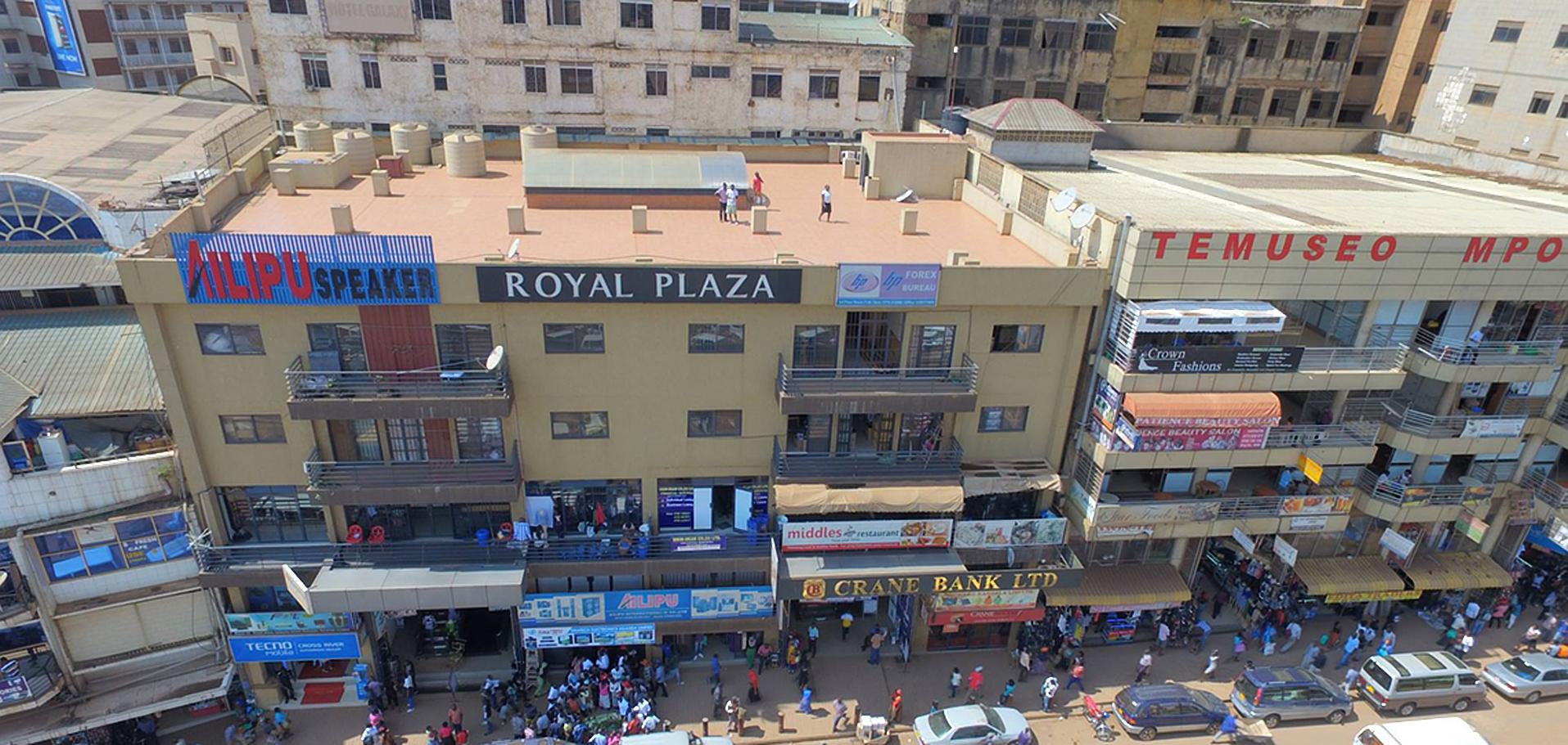 Shopping malls in Downtown Kampala