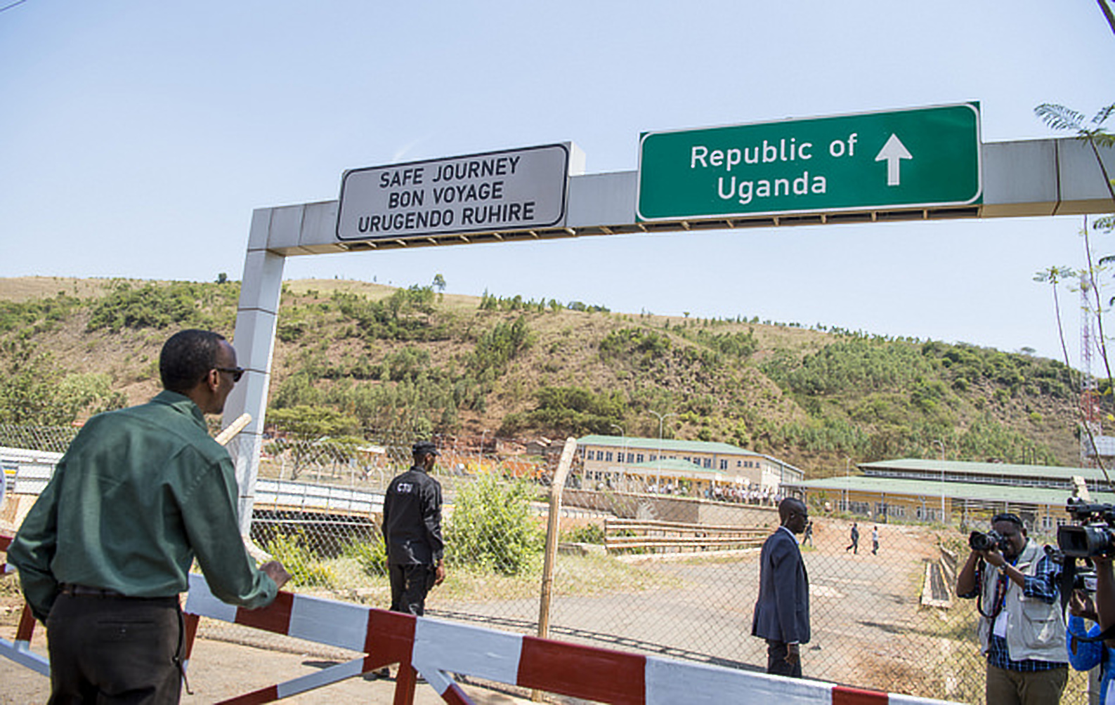 President Kagame at the Katuna border recently (COURTESY PHOTO)