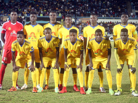 The KCCA team that started against Township Rollers on March day one
