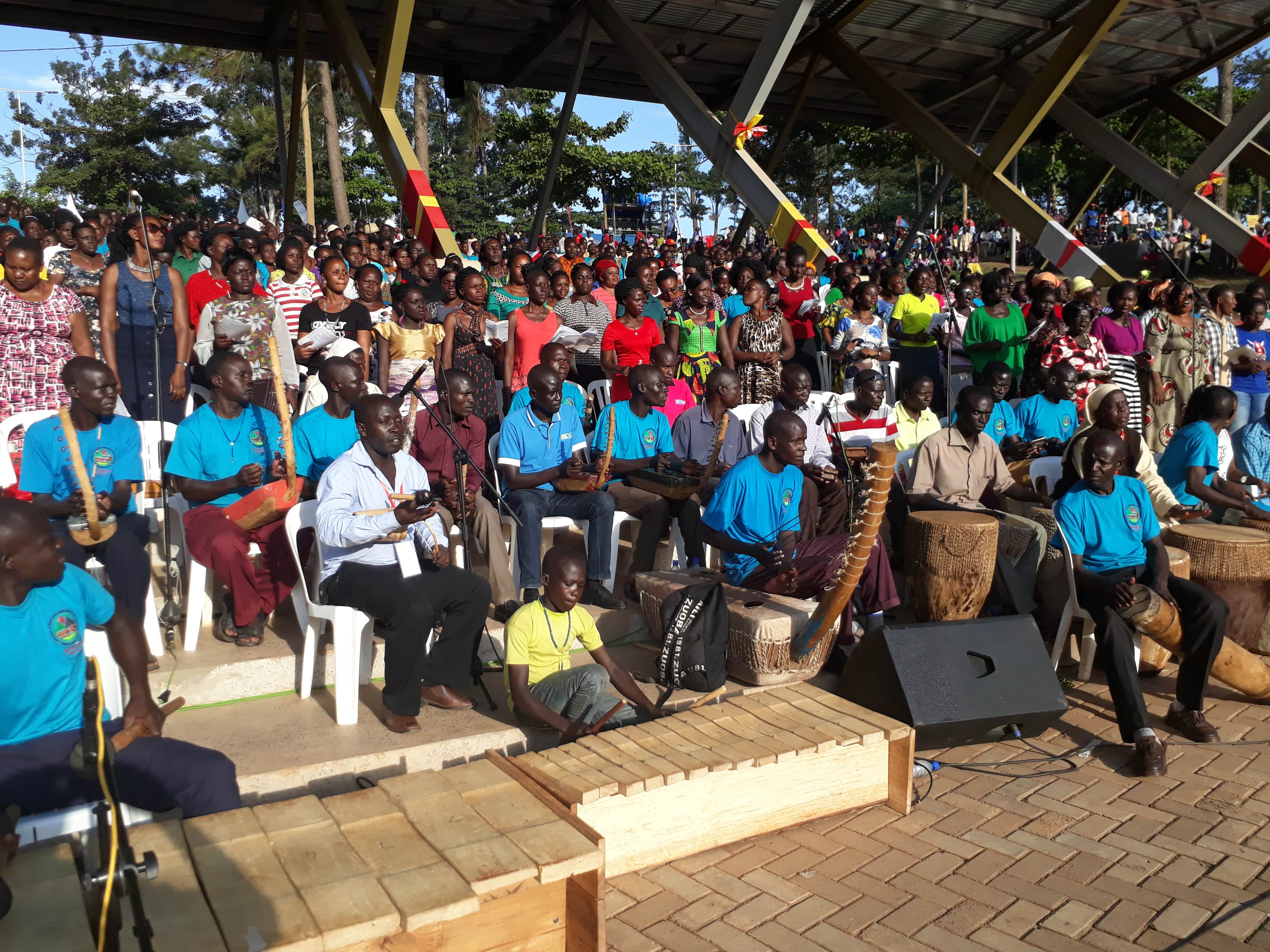 Tororo Archdiocese choir in rehearsals (PML PHOTO)