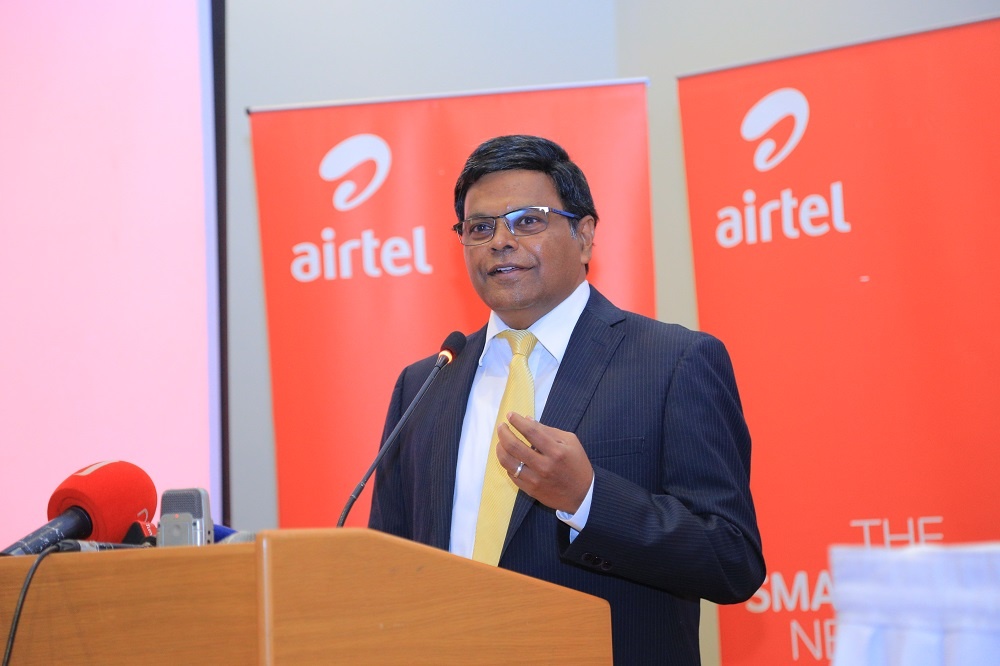 Airtel Uganda Managing Director V.G Somasekhar has resigned (PHOTO/File)