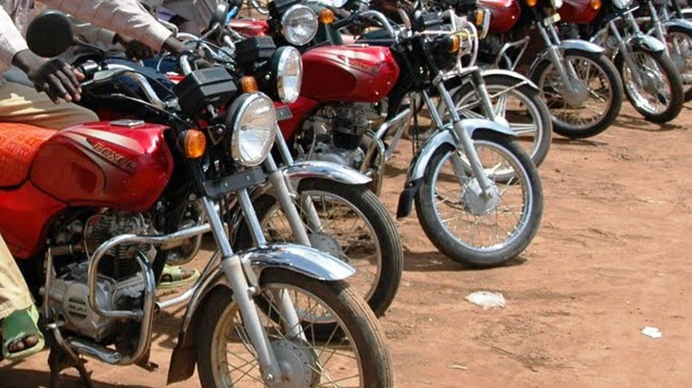 The suspected bodaboda thief was cornered by other riders before the angry mob lynched him