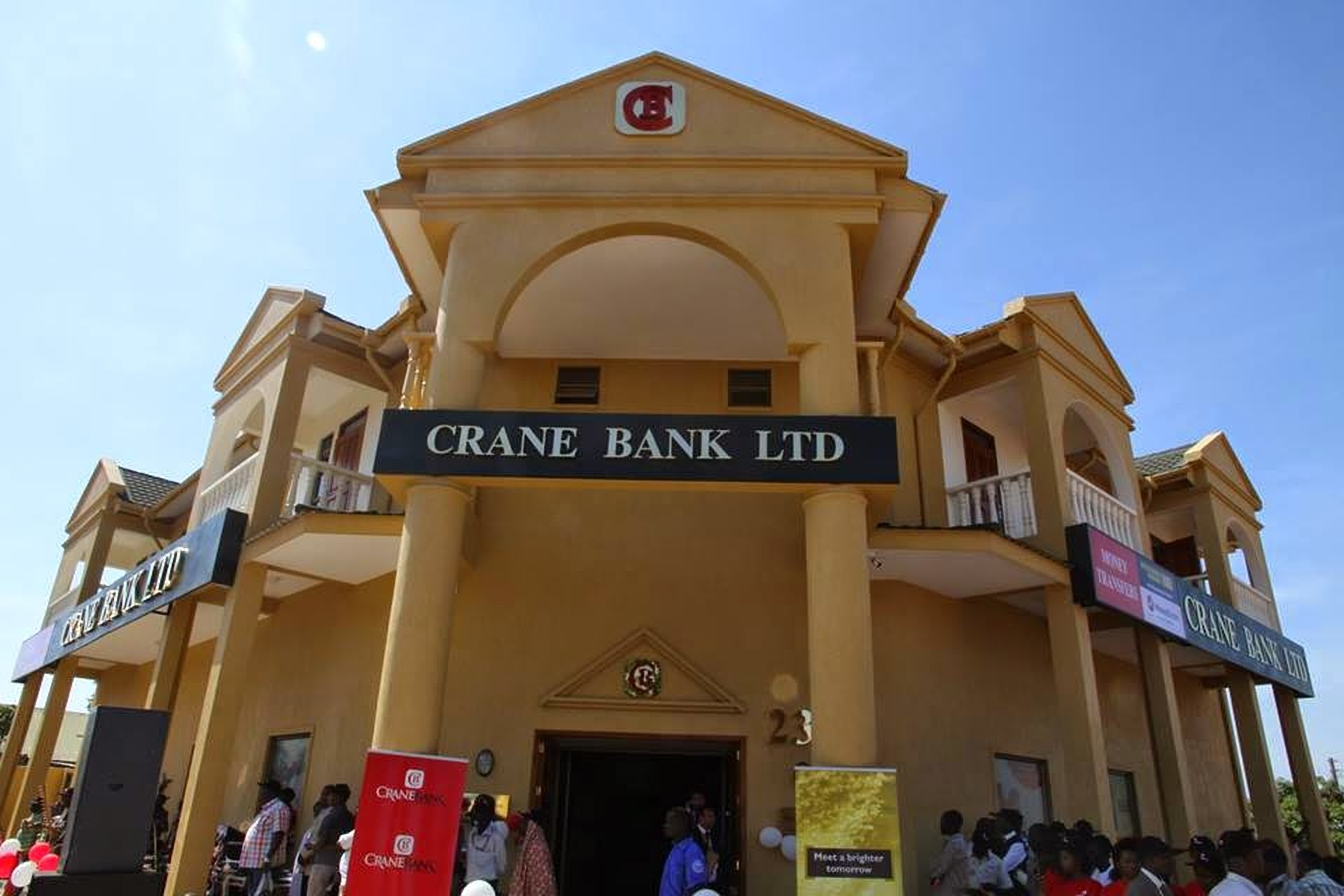 The defunct Crane Bank that was taken over by DFCU following the financial discrepancies (FILE PHOTO)