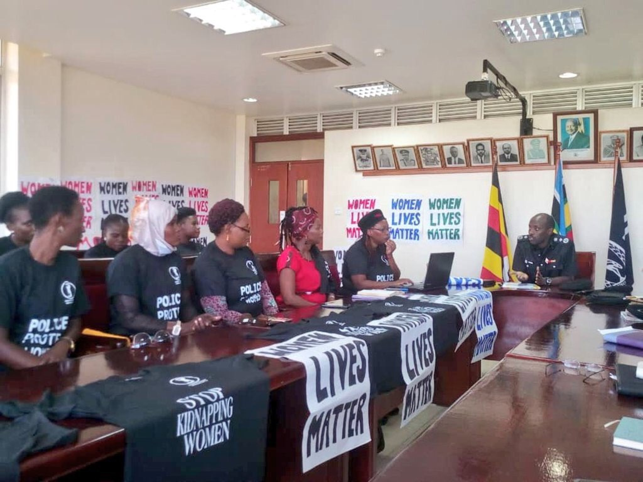 The activists held a meeting with the Deputy IGP ensuing the protest (Credit: Police)