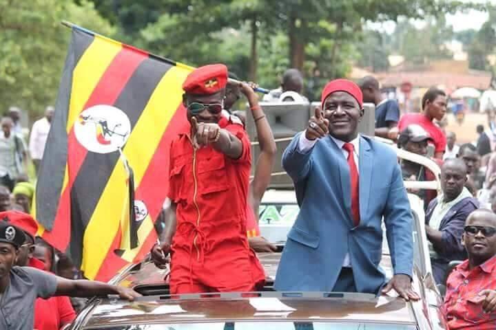 Kyadondo East MP Robert Kyagulanyi, aka Bobi Wine with Asuman Basalirwa in Bugiri (FILE PHOTO)