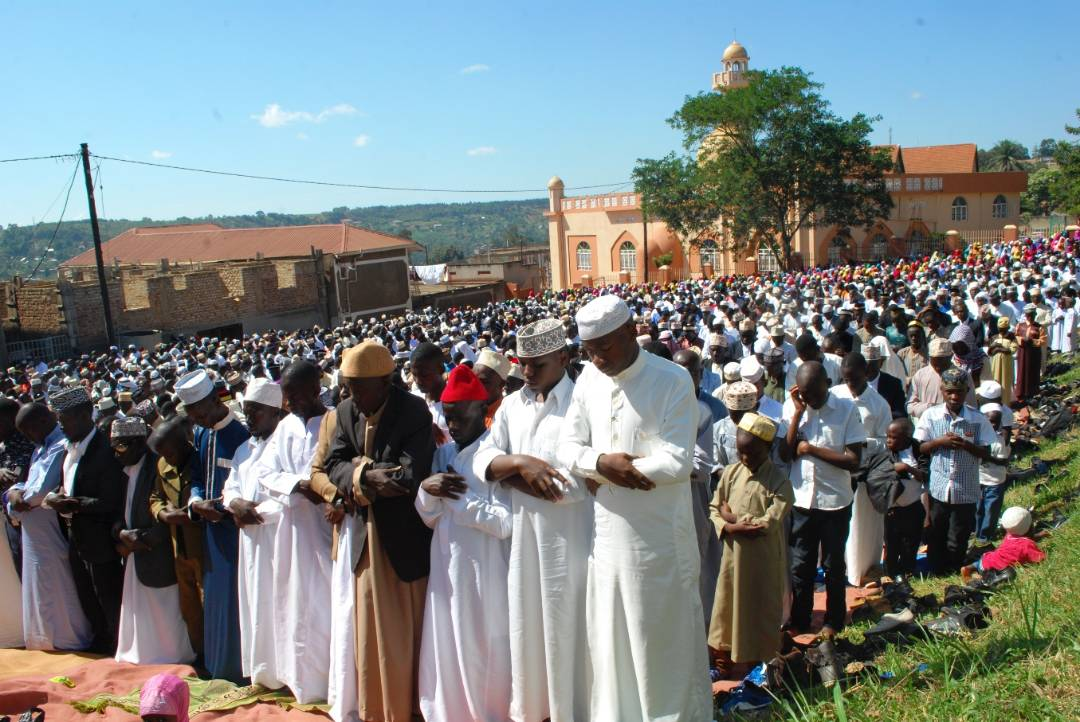Muslims during prayers in Kampala on Friday.