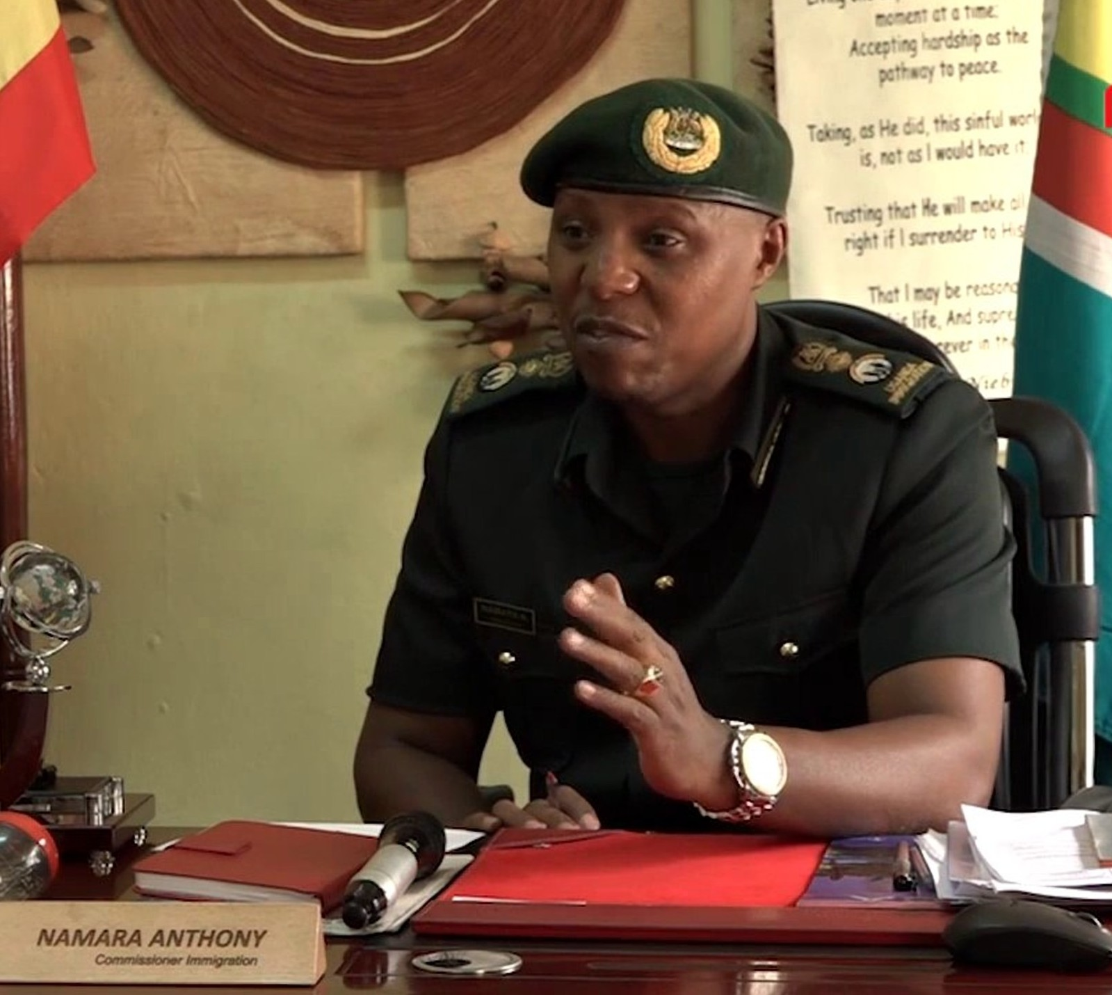 Interdicted Commissioner for Immigration Anthony Namara