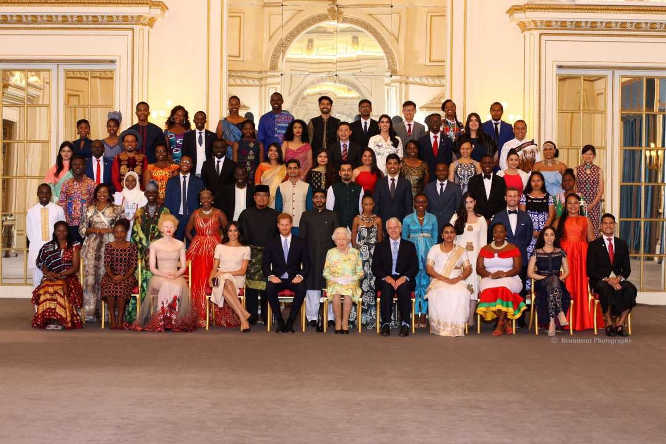 The young leaders are hosted by Queen Elizabeth at the Buckingham Palace in London, UK (FILE PHOTO)