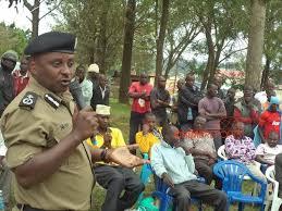 Then Kigezi police boss Paul Nkore addresses residents.
