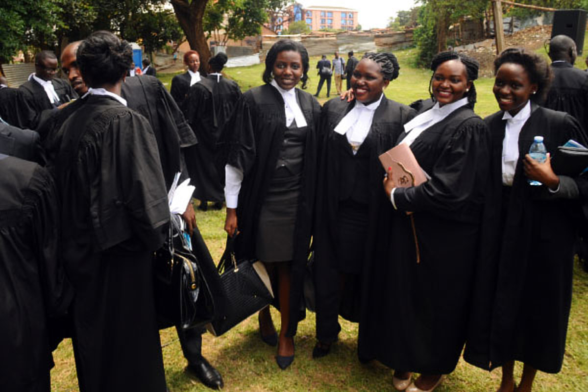 Graduates off the law bar course enjoy a moment ensuing their graduation. Law Council has set August 20 as the date for the compulsory Pre-Entry Examination for admission to the Post Graduate Bar course for 2018/2019 academic year.