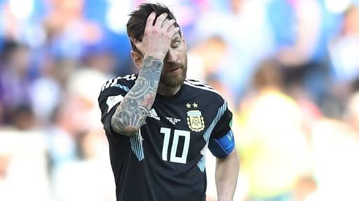 Messi could not inspire his Argentina side against France on Saturday