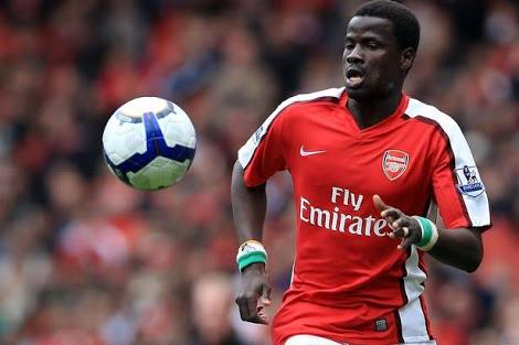 Emmanuel Eboue arrived in Uganda on Tuesdy
