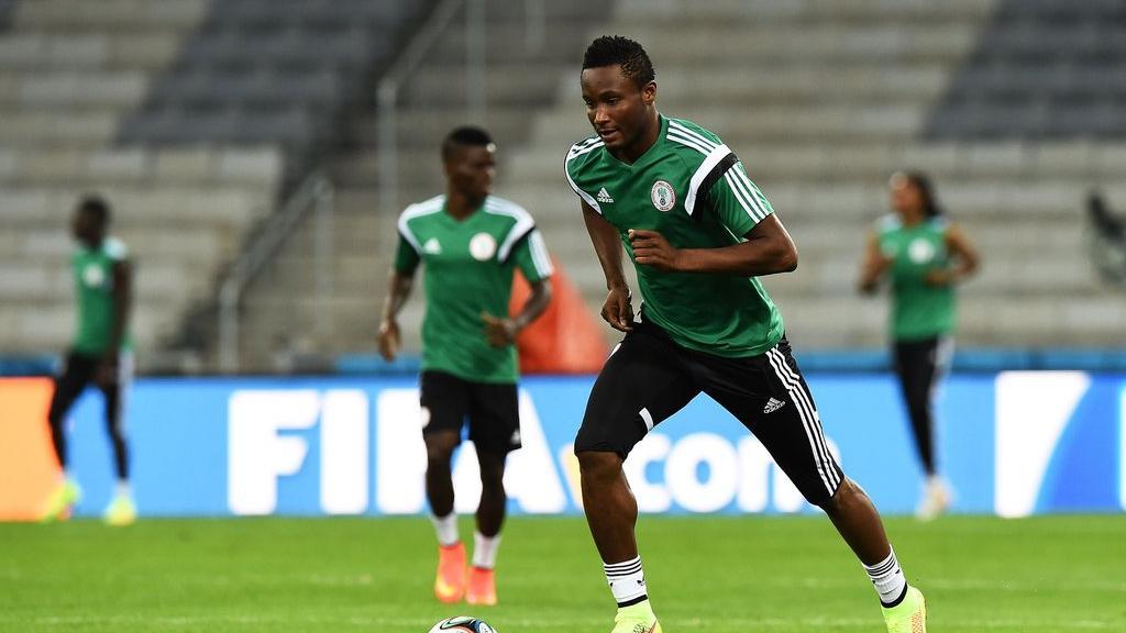 Nigeria's captain, John Mikel Obi during training on Friday (Courtesy Photos)