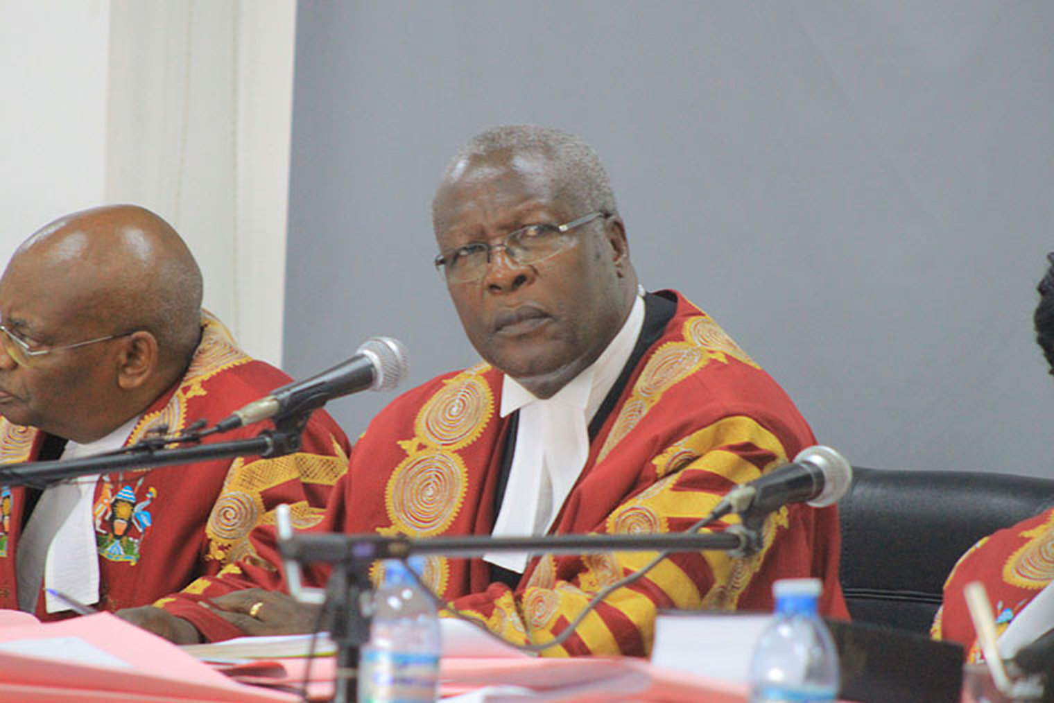 Chief Justice Bart Katureebe at a proceeding recently.