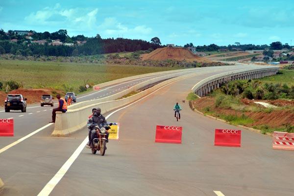 Boda Boda riders illegally use Entebbe - Kampala Express. FILE PHOTO