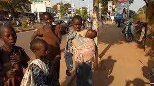 Street kids in Kampala.