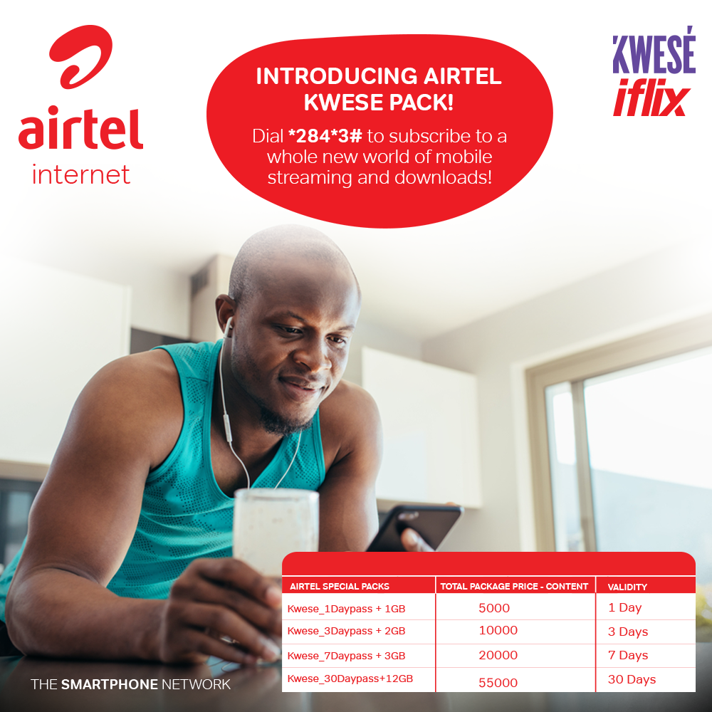 The patnership between Airtel Uganda and Kwese Iflix will bring the action to subscribers at unbeatable prices