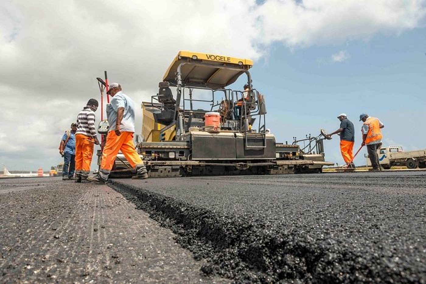 Construction underway at a road in Uganda. President Museveni has urged local contractors to end the Chinese dominance