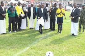 Kabaka Mutebi Opens 2015 Bika bya Baganda Football Tournament, Ngabi Clan Win (Photo by Agencies)