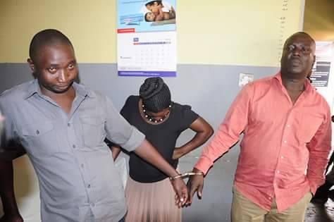 Olivia Naiga (30), Ben Kato (37) and Sande Kibuuka Ssalongo (40)  arreted over bank fraud