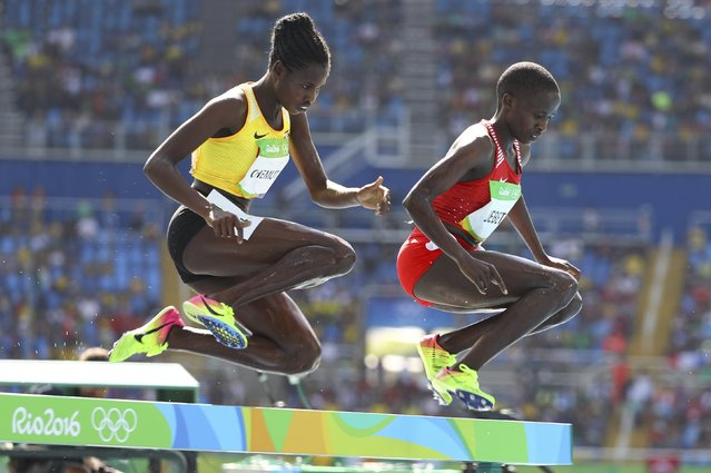 Peruth Chemutai (left) finished second in the 3000 meter steeple chase at the U20 World Championships in Finland