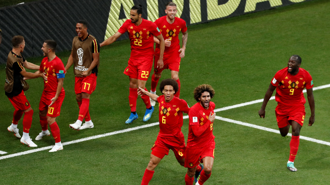 Belgium become the first team since West Germany to win a knock out game at the World cup after trailing 2-0.