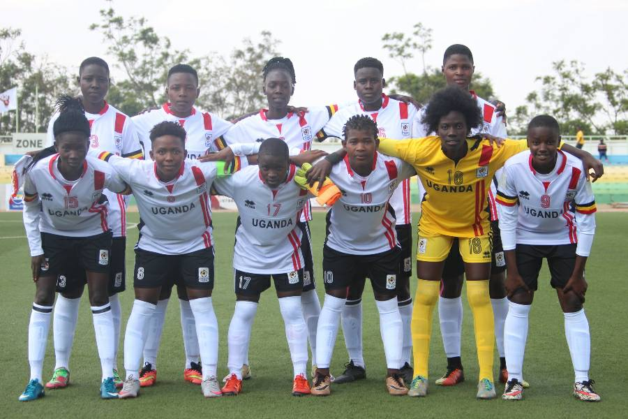 The Crested Cranes team that started against Kenya on Thursday afternoon (Photo by FUFA Media)