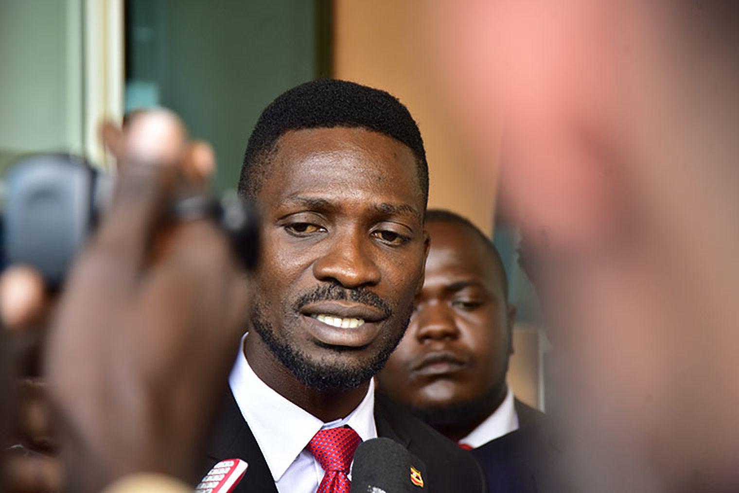 Kyadondo East MP Robert Kyagulanyi alias Bobi Wine speaks to the press (FILE PHOTO)
