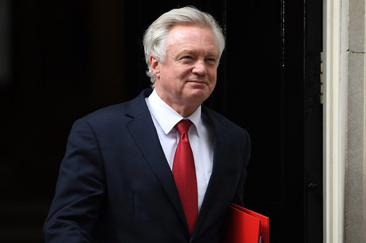 Former Secretary of Secretary of State for Exiting the European Union, David M Davis's resignation follows tensions in the cabinet over UK PM Theresa May's Brexit vision (AGENCIES)