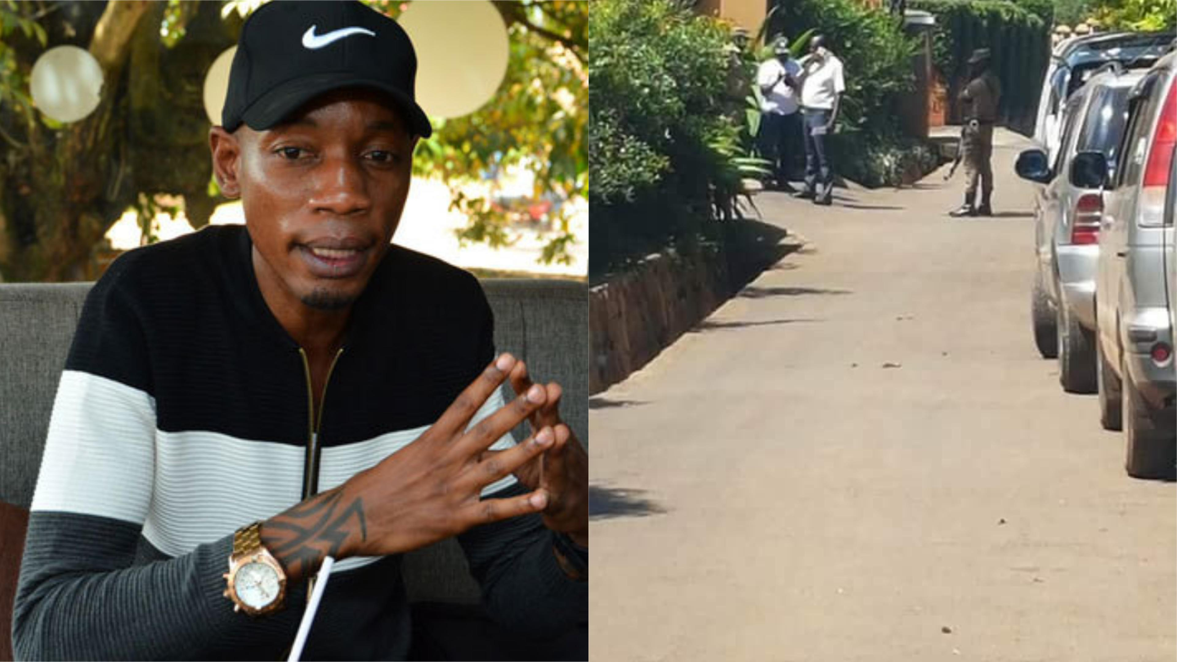 Police seals off socialite Bryan White's residence in Munyonyo, a Kampala surburb Tuesday