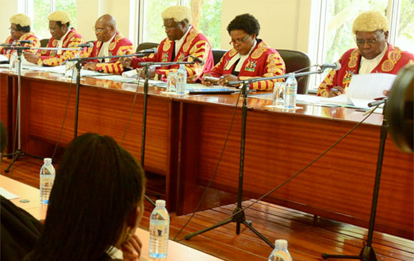 The Supreme Court in session recently. Court awards have hit a whoppong shs.660bn, AG report reveals (FILE PHOTO)