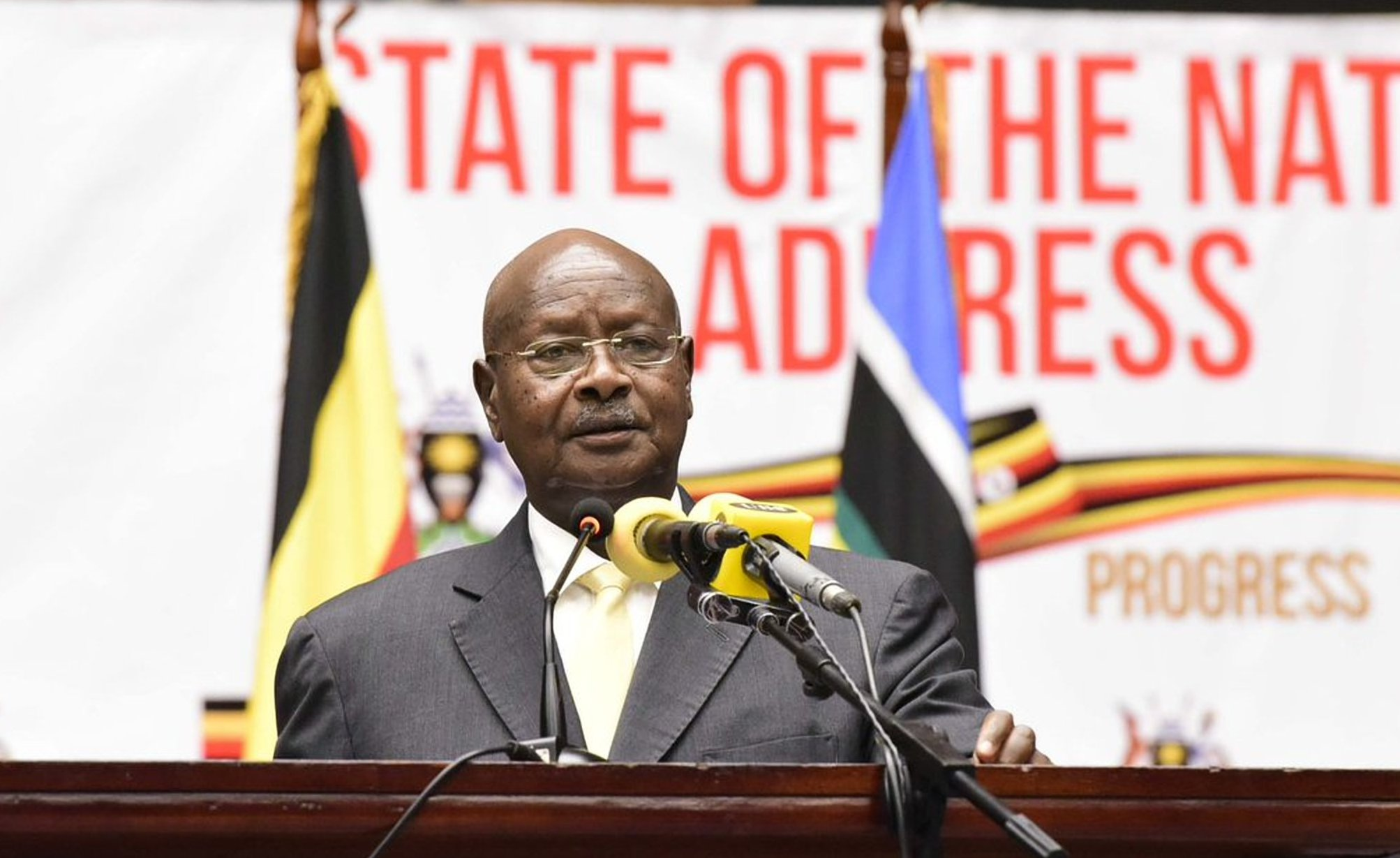 President Museveni delivers the State of Nation Address at the Serena Conference Centre June 6 2018. President Museveni has acknowledged that the social media tax is to benefit Uganda (FILE PHOTO)