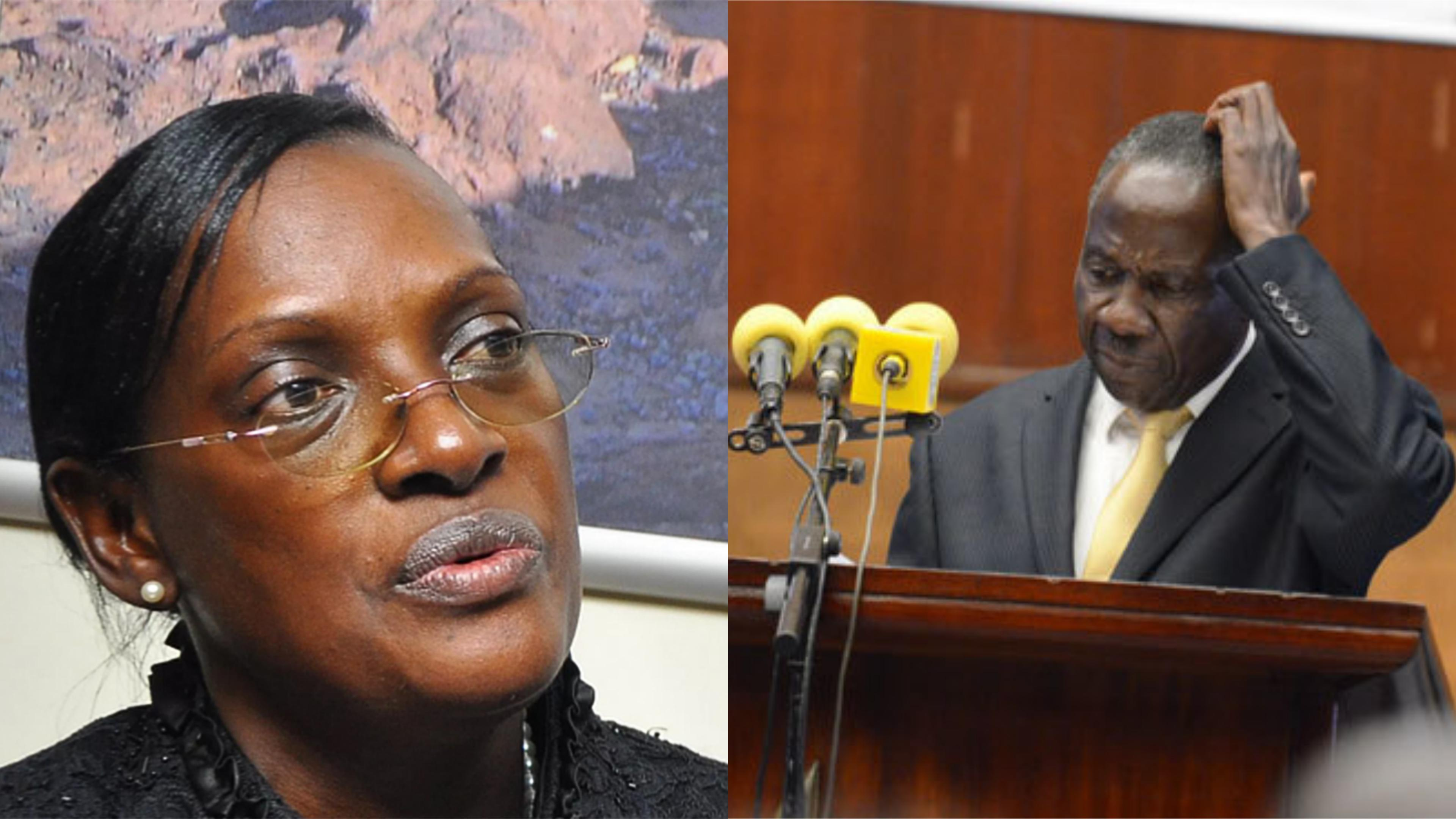 Finance Minister, Matia Kasaija faces a petition to reverse the reappointment of ex-BoU Director of Supervision, Justine Bagyenda to FIA board (FILE PHOTO)
