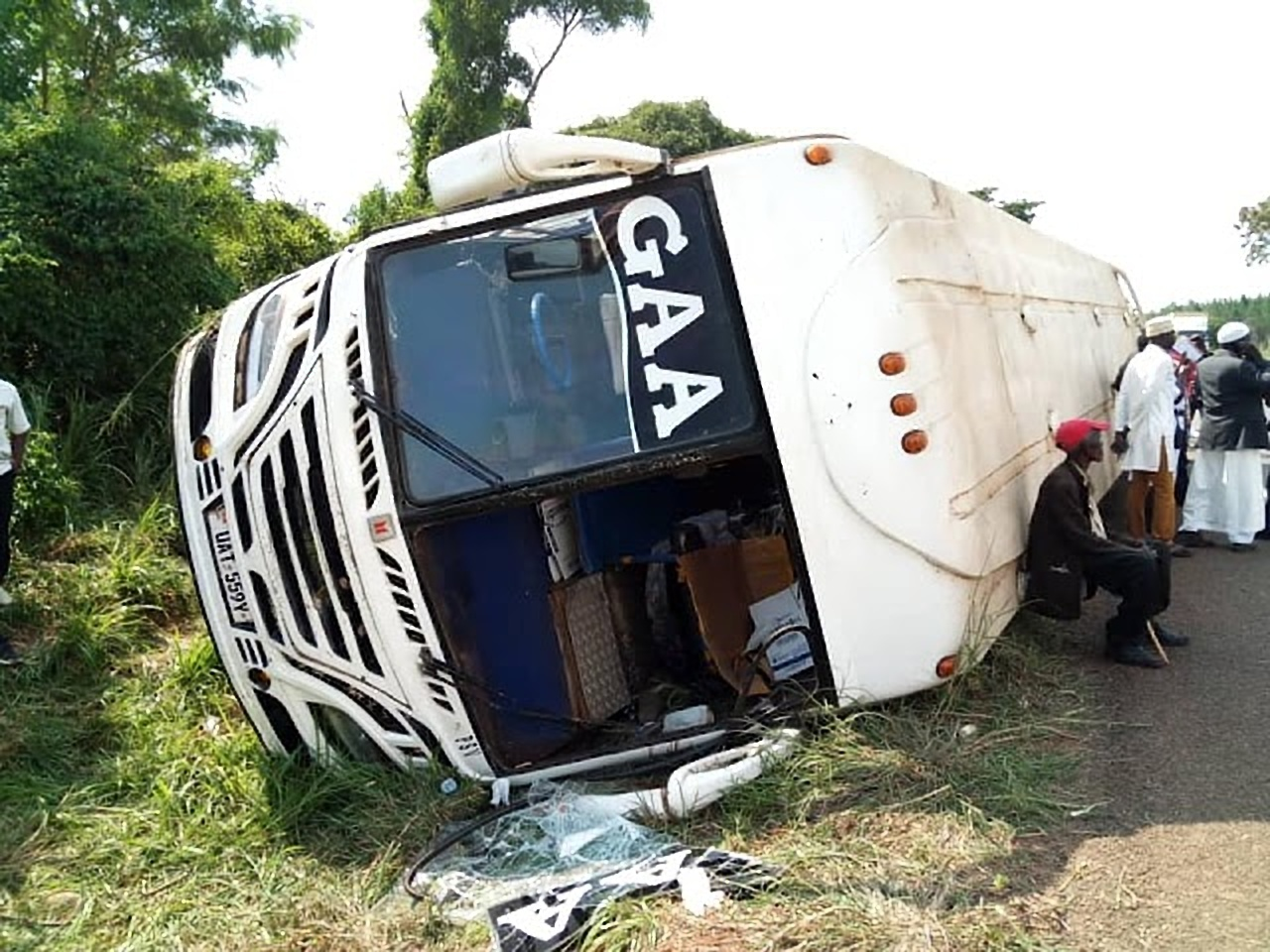 Gaagaa bus involved in tragic Kiryadongo accident on May 25, 2018. Gaagaa bus operations have been suspended by the Transport Licencing Board (FILE PHOTO)