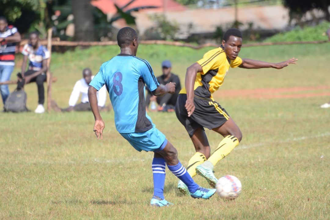 Shafick Kagimu (left) scored the only goal of the game on Sunday (Photo by FUFA Media)