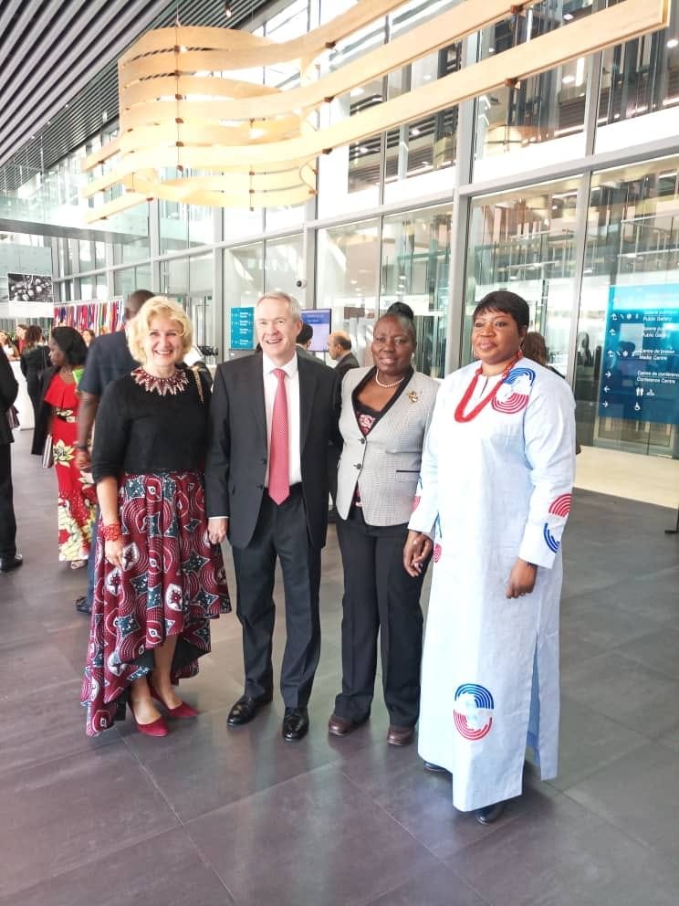 Kadaga with(L-R) Uganda's Ambassador to the European Union, Amb Miriam Blaak Sow, Peter Lewis, ICC Prosecutor and Fatou Bensouda, ICC Chief Prosecutor at the Hague.