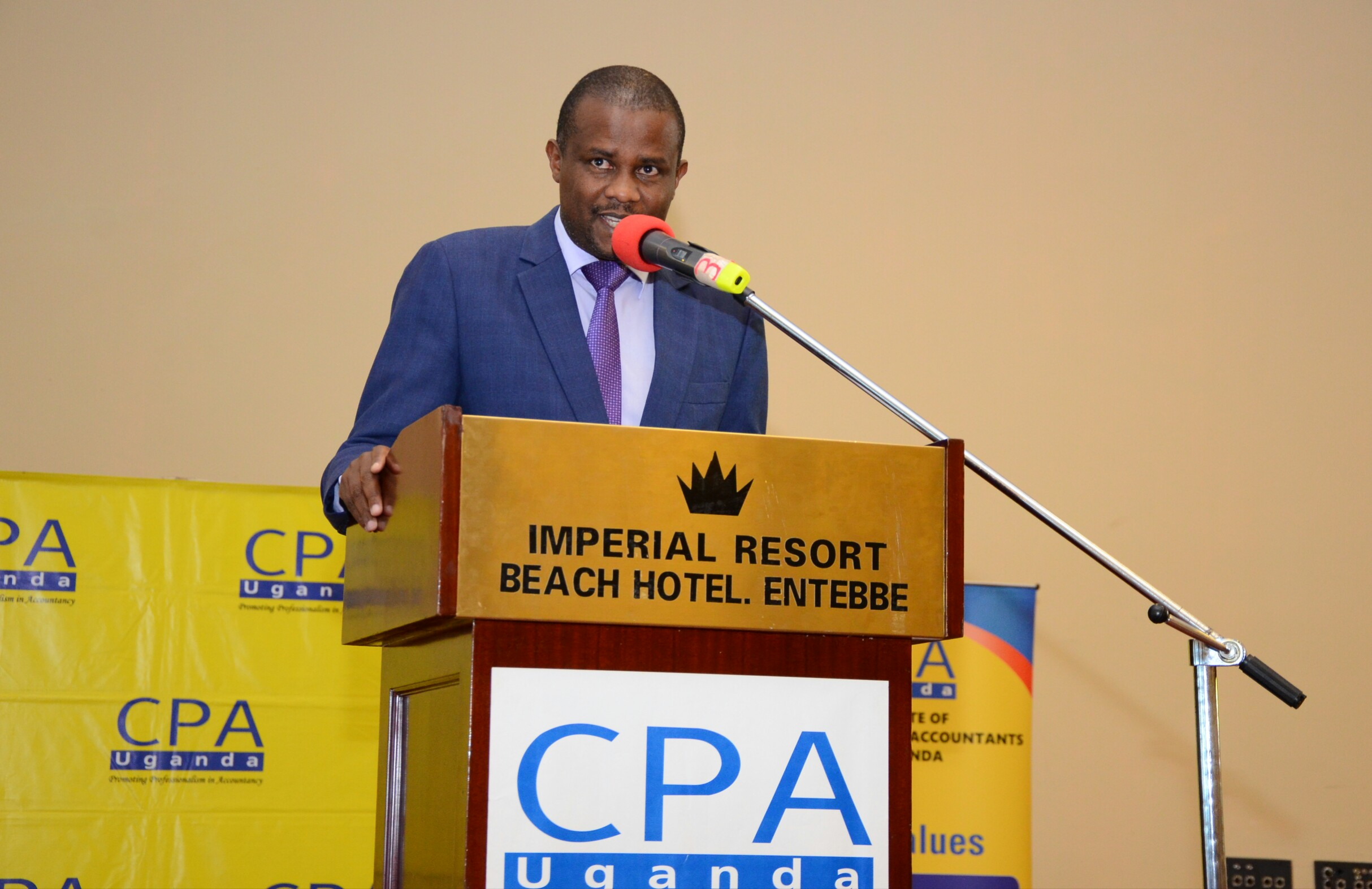 Dr Patrick Birungi, the deputy Executive Director NPA, delivering a paper (PHOTO - AFUUNA)