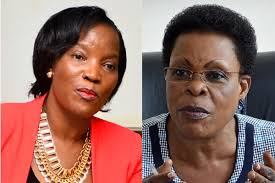 The feud between KCCA executive director, Ms Jennifer Musisi and Kampala Minister Beti Kamya takes a twist as KCCA councillors side with the Kampala Minister (FILE PHOTO)