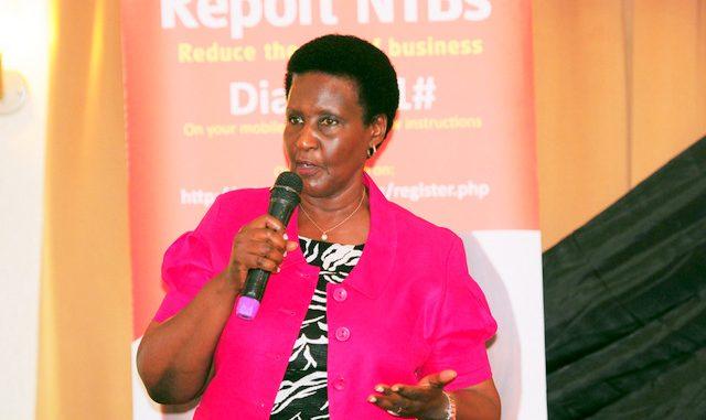 Minister of Trade, Industry and Cooperatives, Hon. Amelia Kyambadde